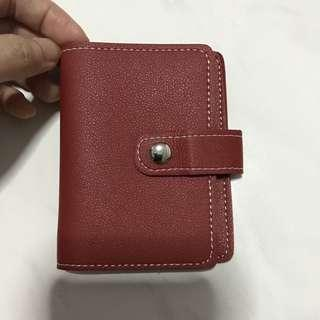🚚 Red Leather Card Holder