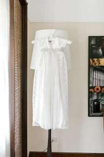 Vintage lace long baptism gown for baby girl (3-6mos)