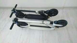 E-scooter black/white