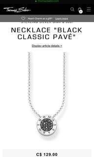 Tomas sabo necklace (all black inside circle)