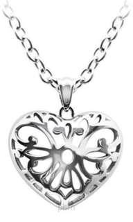 Bausch K Heart Pendant Necklace