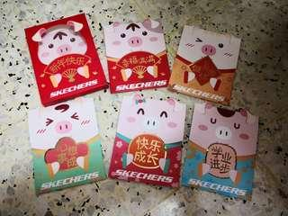 Ang Pow skechers 1 set 5pcs + 1 box