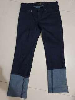 7 Jeans Seven For All Mankind Indigo Straight Leg Jeans sz.26