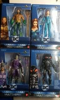 全新現貨水行俠 DC legends aquaman mera orm black manta set 連BAF (not shf)