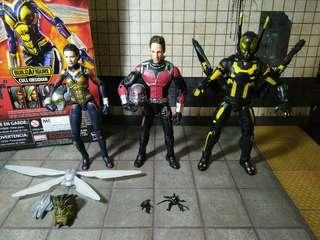 "Marvel Legends MCU Set of 3 (Wasp/Antman/Yellowjacket) 6"""