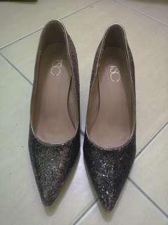 Purple Silver Shimmering Heels