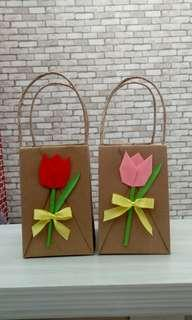 Mini Origami Paper Bag Valentine Size L
