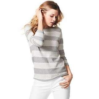 Tommy Hilfiger lace stripe sweater: size S
