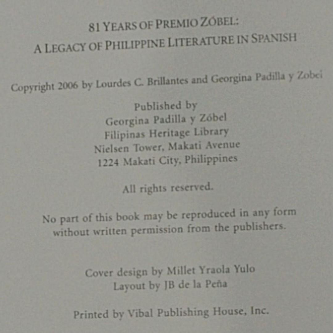 81 Years of Premio Zobel: a Legacy of Philippine Literature in Spanish