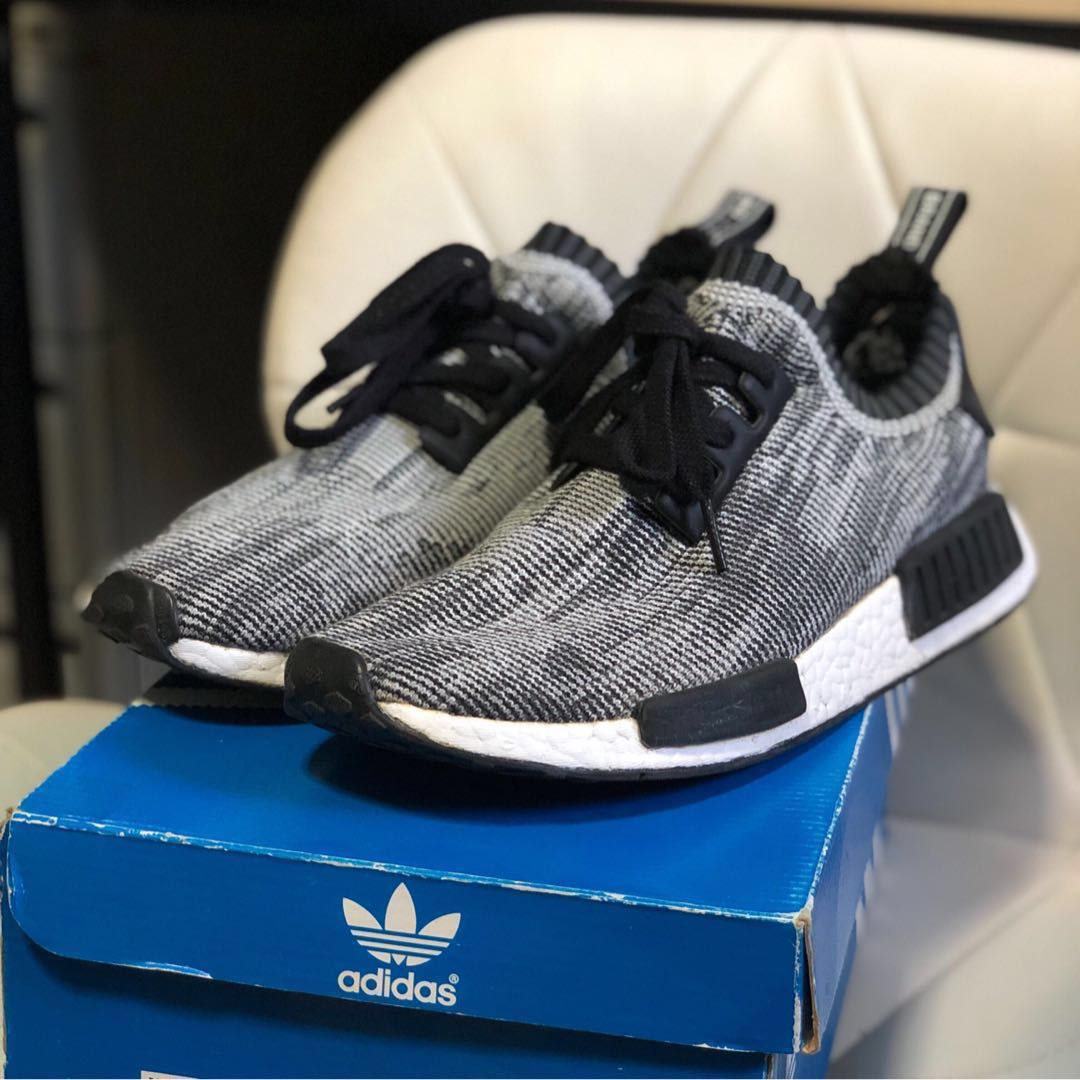 free shipping 7620a 670f1 🔥 Adidas NMD R1 PK Oreo Glitch (2015 Release), Men s Fashion ...