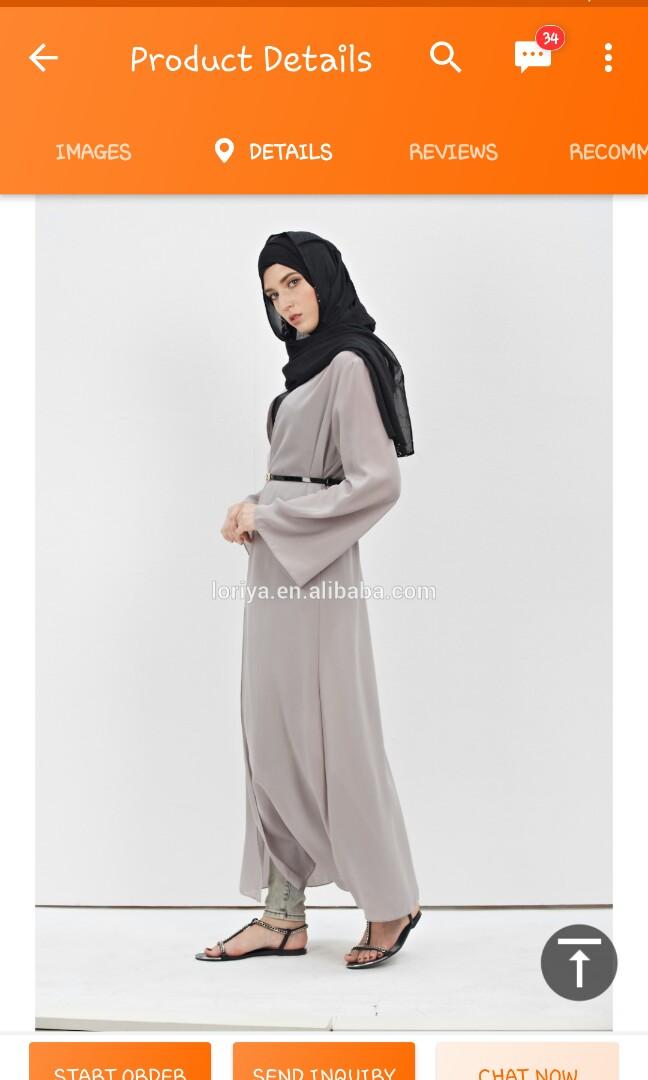 1c1c3e952 CLEARANCE SALE -Abaya Chiffon, Women's Fashion, Muslimah Fashion on ...
