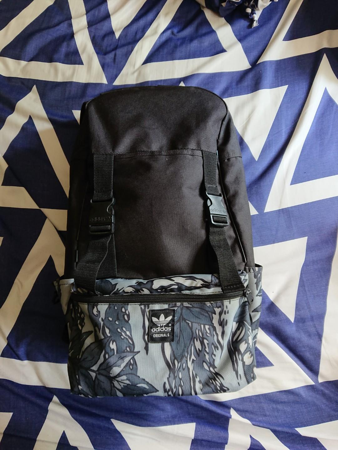 adidas Originals Graphic Block backpack, Men's Fashion, Bags