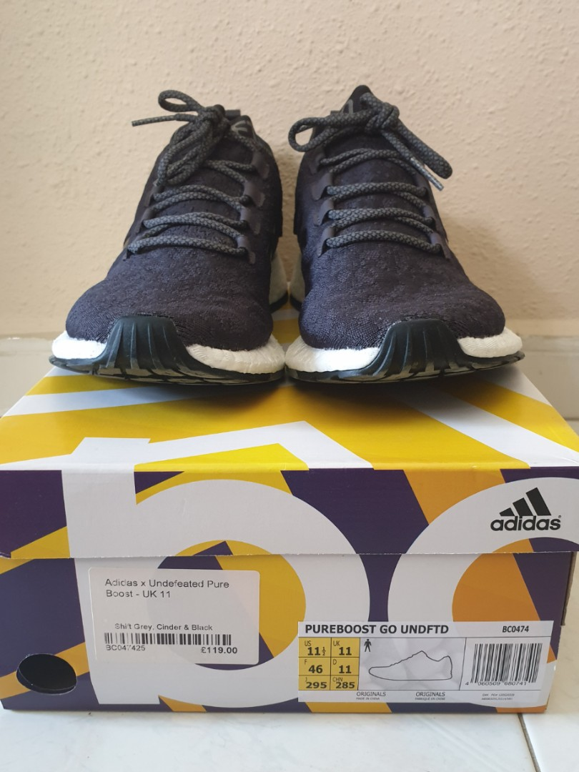 4c1a18b08ffd28 ADIDAS X UNDEFEATED PUREBOOST RBL Shift Grey