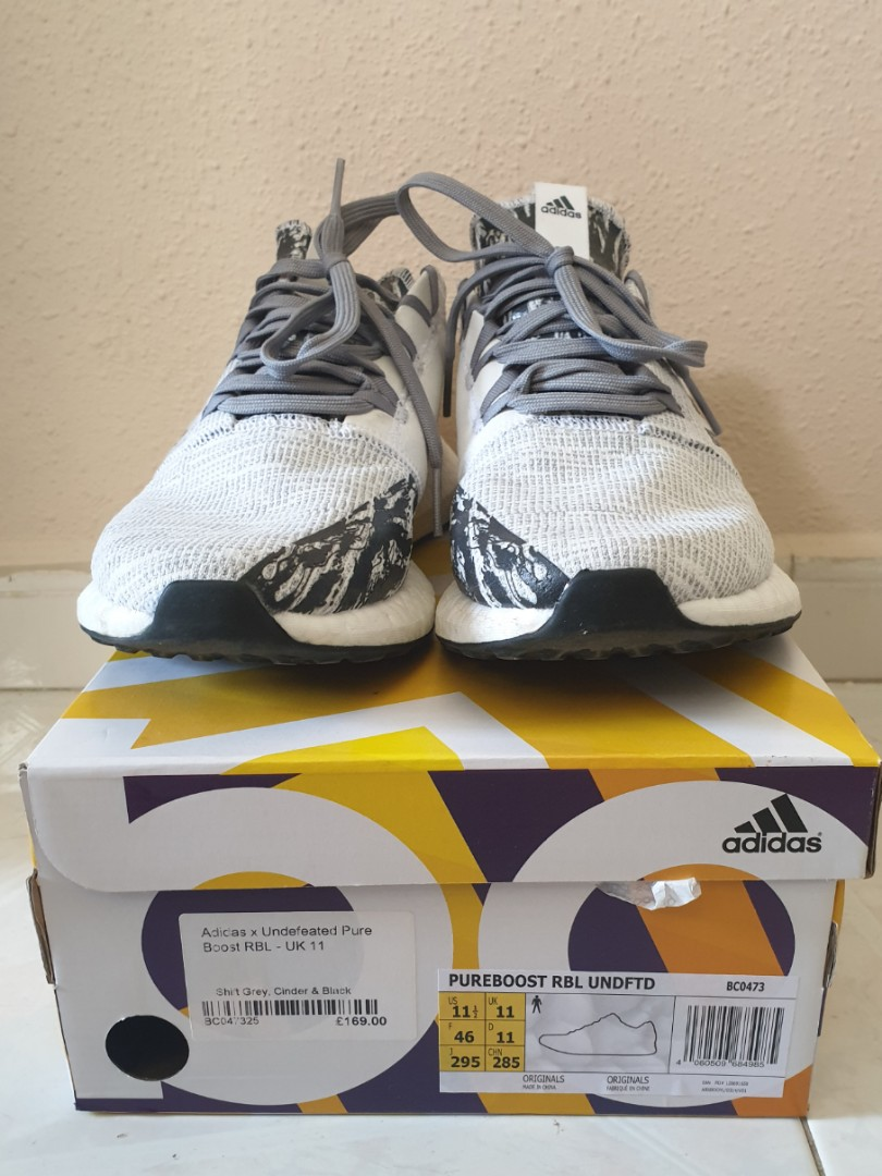 c7f63f090a2d9 ADIDAS X UNDEFEATED PUREBOOST Shift Grey