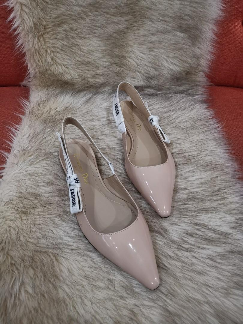 64c0f9fdd Authentic Christian Dior J'Adior Patent Leather Slingback Flats Size 36 on  Carousell