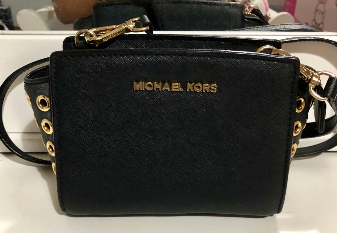 Authentic MK Mini Saffiano Leather Crossbody