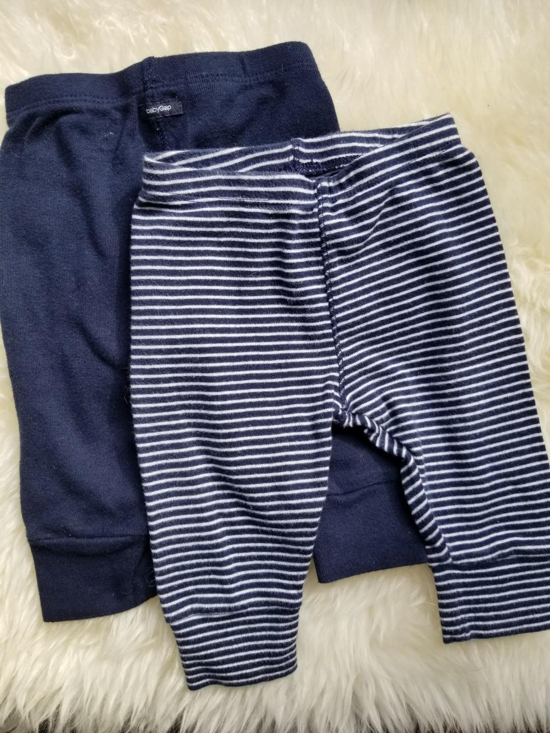 Baby Gap favourite pants. New. No tags. Size 3-6mths. We purchased new for $29. PU gerrard and main for $9 or $10 yorkville for both pairs or $5 each.