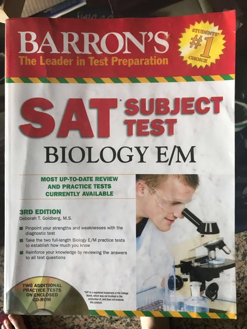 Barrons SAT Subject Test Biology Study Guide on Carousell