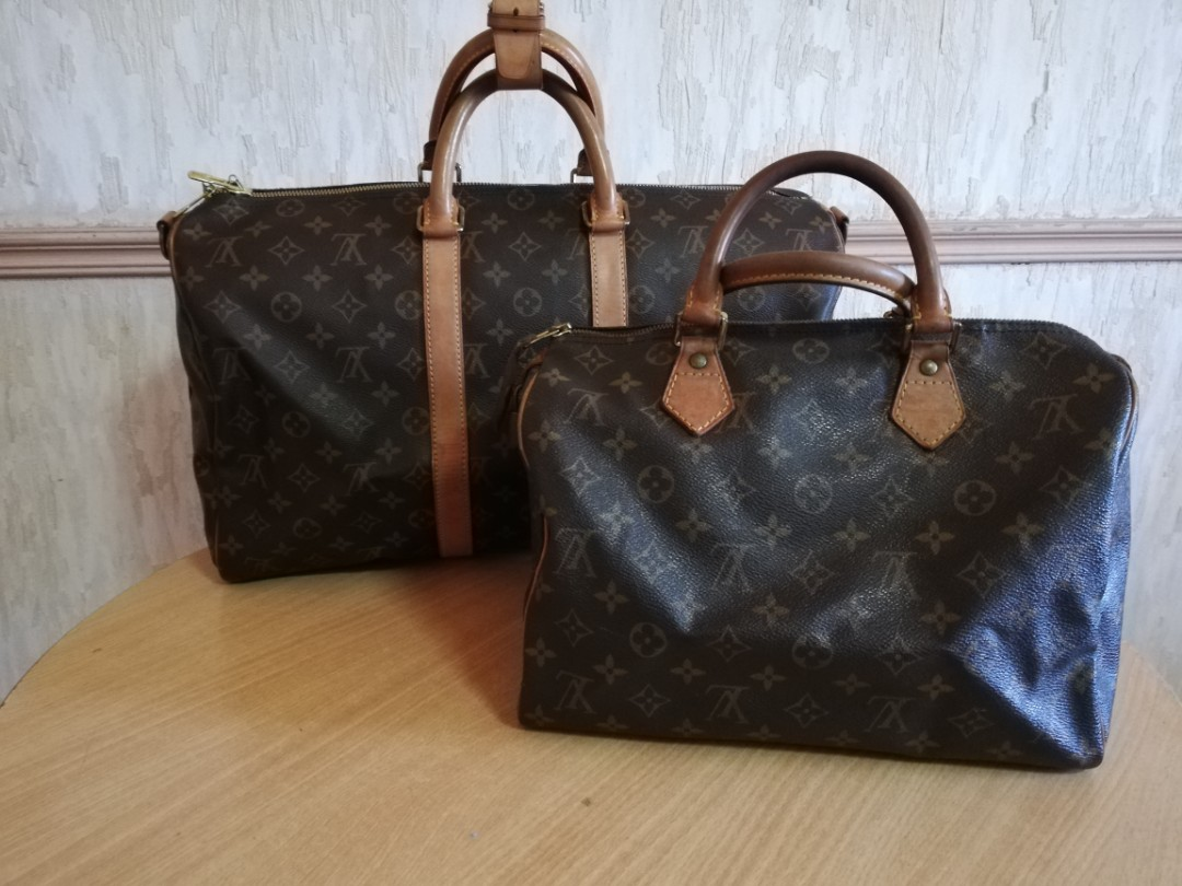 67540c94ac47 BUNDLE AUTHENTIC Louis Vuitton Keepall 45 and Speedy 30