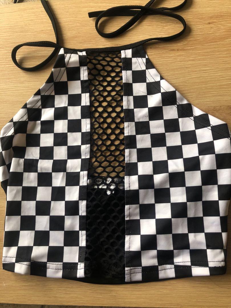 Checkered crop