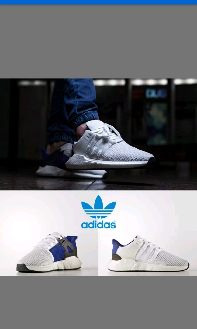 new product fb11a 9647c CNY SALE* Adidas EQT Support 93/17 Royal Blue, Men's Fashion ...