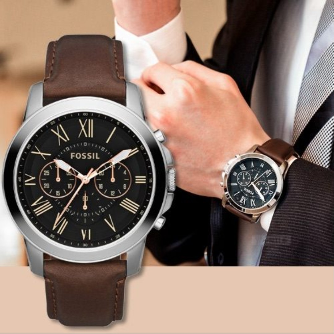 💥CNY Special DEALS 💥FOSSIL GRANT CHRONOGRAPH BROWN LEATHER WATCH ... e66bb7da7d14