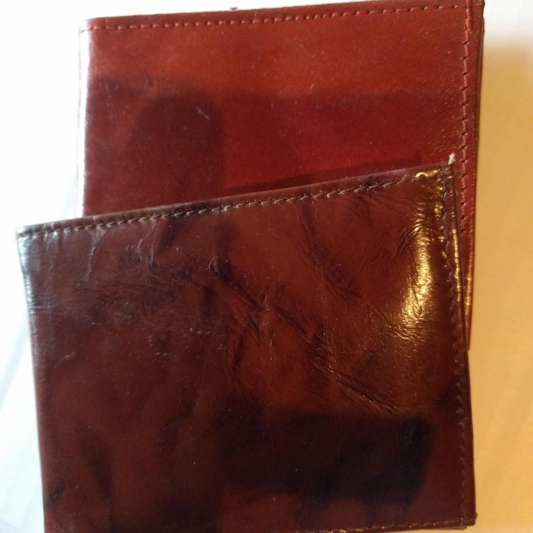 Faux Pas Leather (Manmade) Leather  wallets Made in India, Mostly tan/Brown