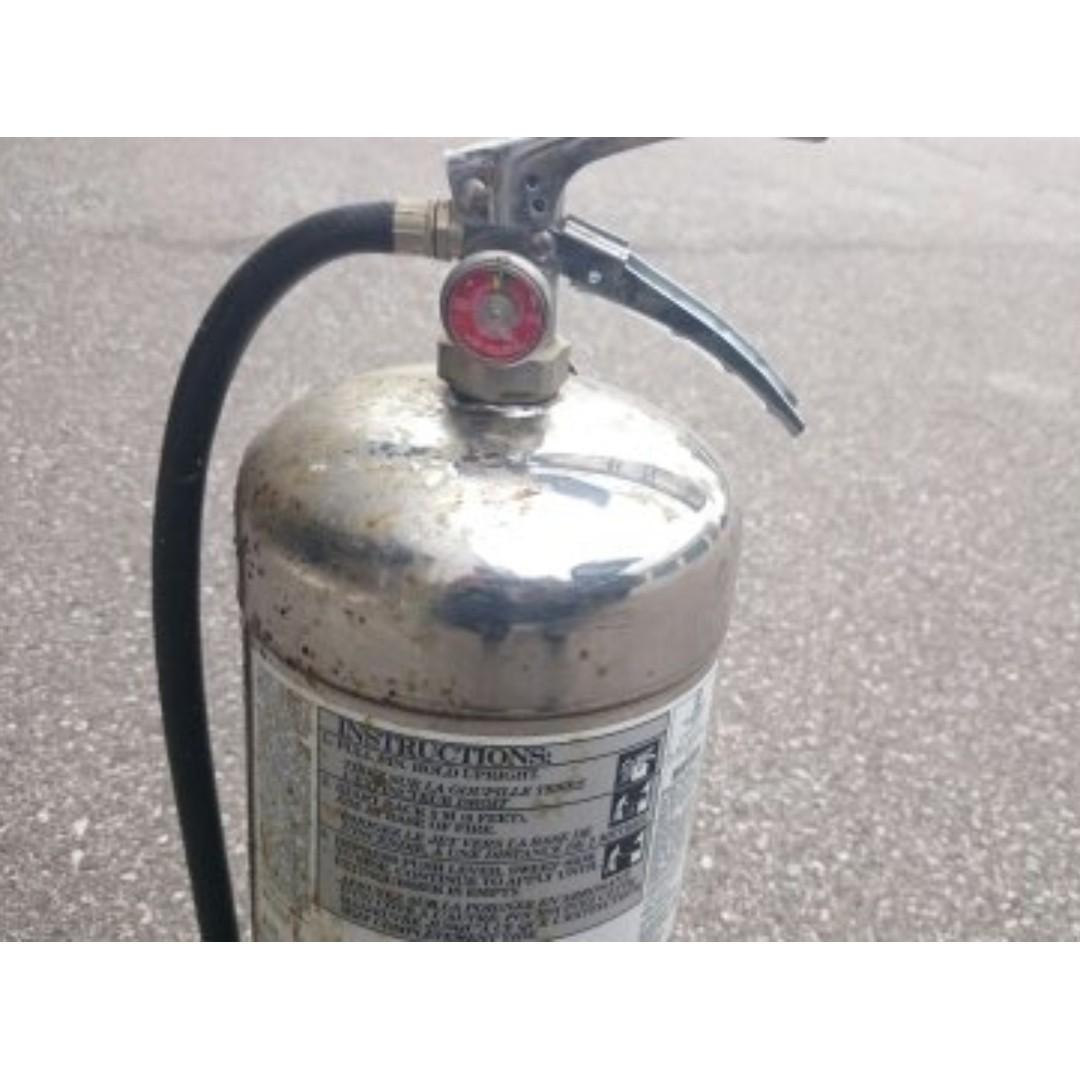 Frier Extinguisher -K Class,6L,Chrome Container,used,untagged
