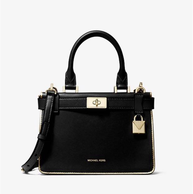 453045a624e0 Full set Michael Kors black small Tatiana crossbody bag, Luxury ...
