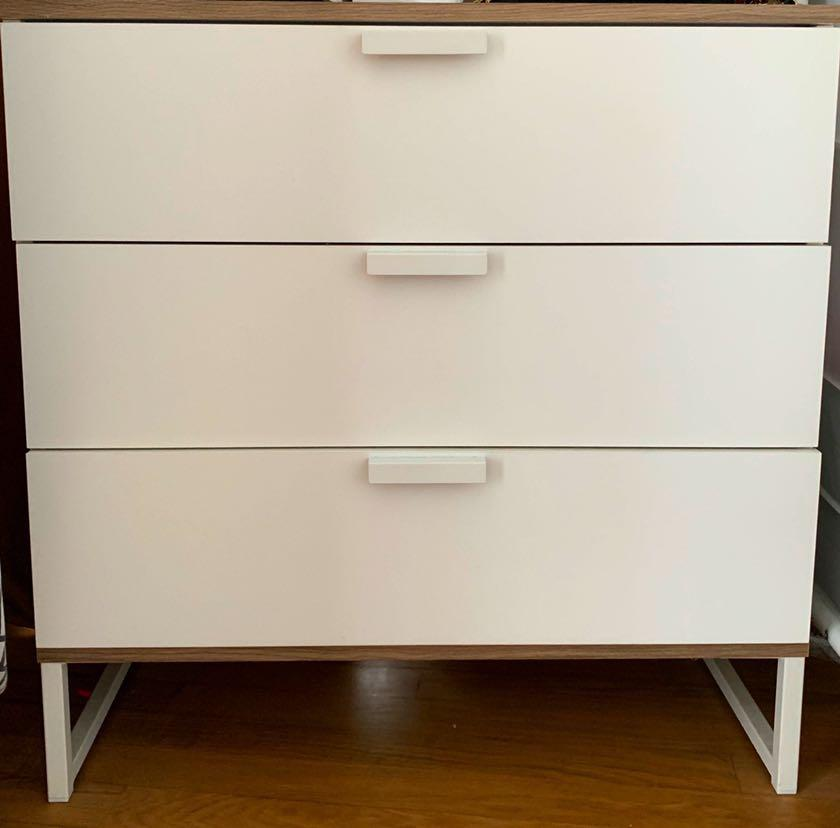Ikea Trysil Chest Of 3 Drawers White Furniture Shelves Drawers On Carousell