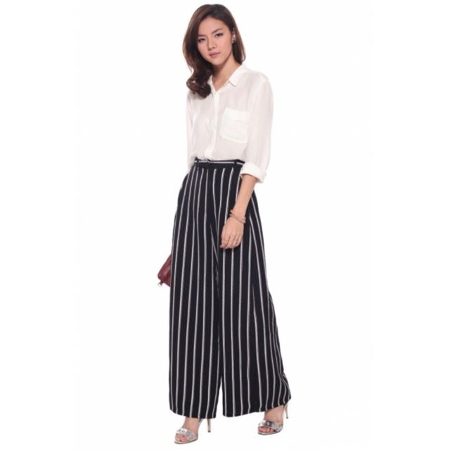 b330e35bc80 Love Bonito Panya Wide Leg Striped Pants BNWT, Women's Fashion ...