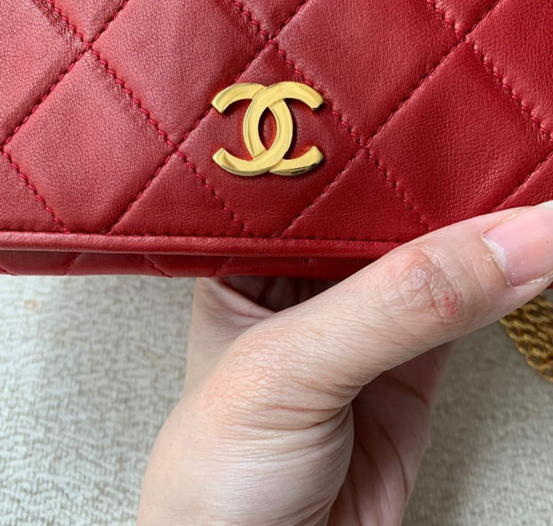 b6569839cead65 Lovely Authentic Chanel Lambskin Shoulder Slingbag/Flap, Luxury, Bags &  Wallets, Handbags on Carousell