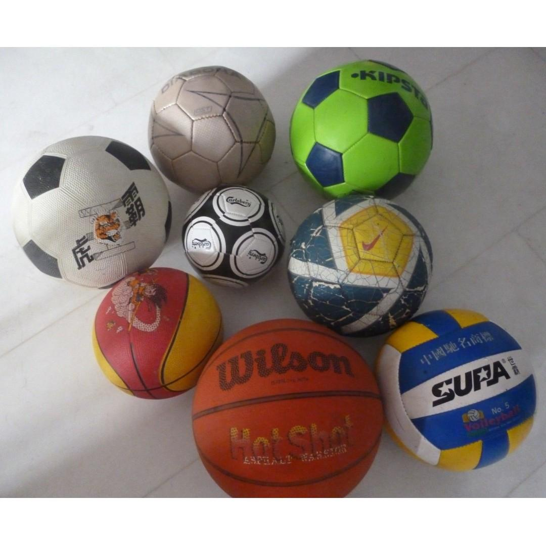 Many football soccer volley basketball ball Nike Diadora Wilson