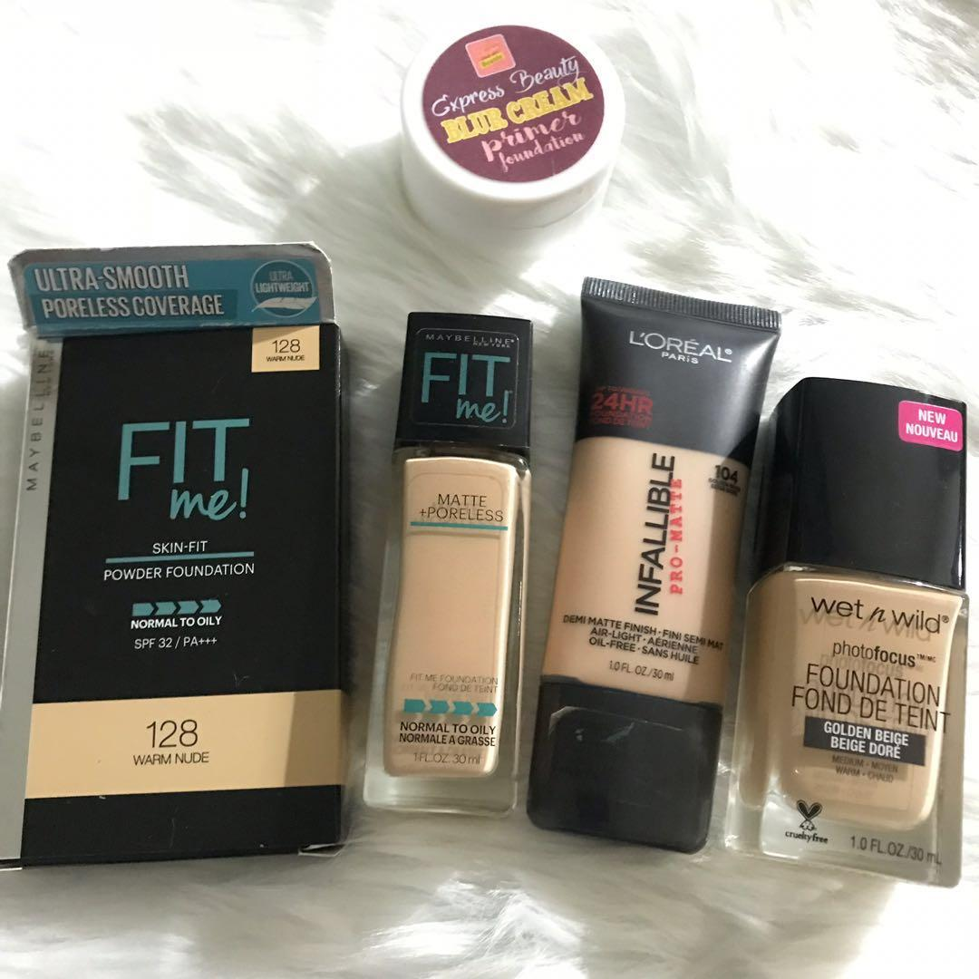 Maybelline Fit Me L Oreal Infallible And Wet N Wild Health Beauty Makeup On Carousell