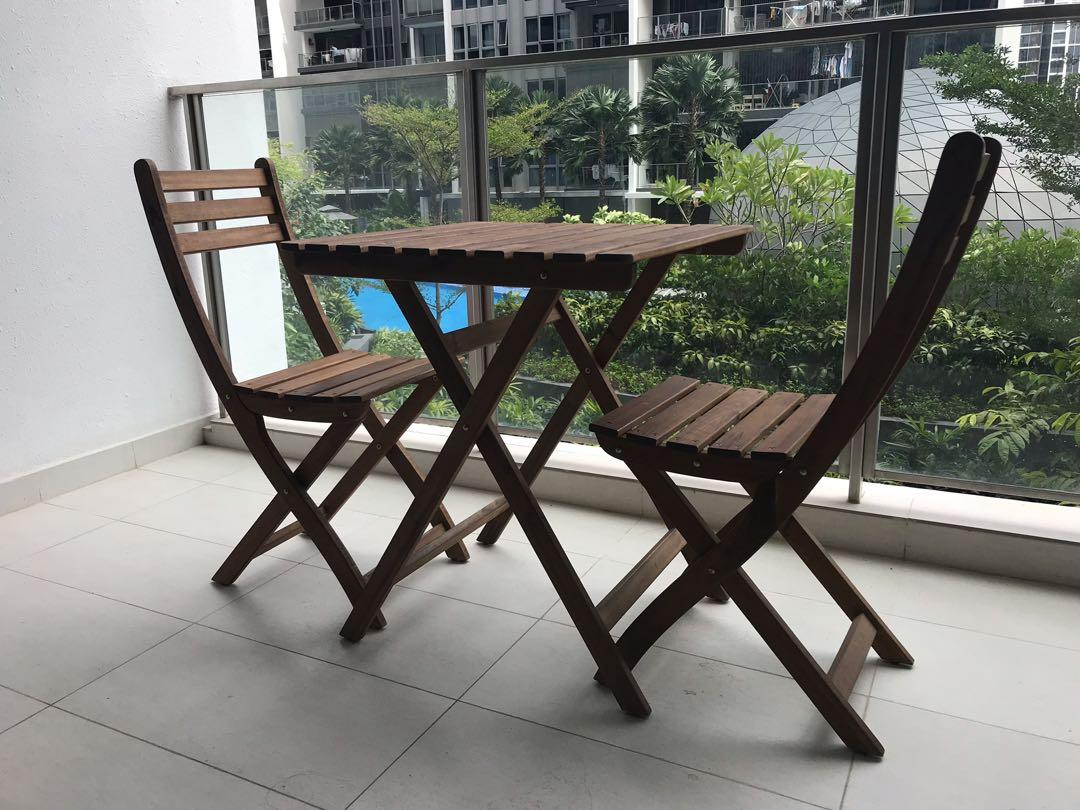 Moving Out Sale Ikea Balcony Table 2 Chaies Furniture
