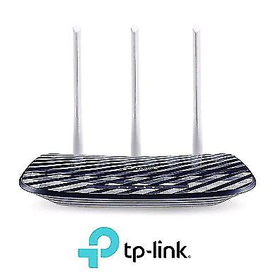 NEW TP-LINK AC750 WIRELESS DUAL BAND ROUTER, 2.4GHZ 300MBPS + 5GHZ 433MBPS, 3 EXTERNAL ANTENNAS (ARCHER C20)
