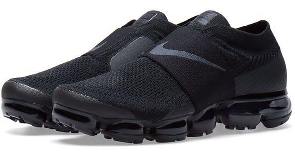 bf9c5af0dd Nike Air VaporMax Flyknit Moc Triple Black, Women's Fashion, Shoes ...