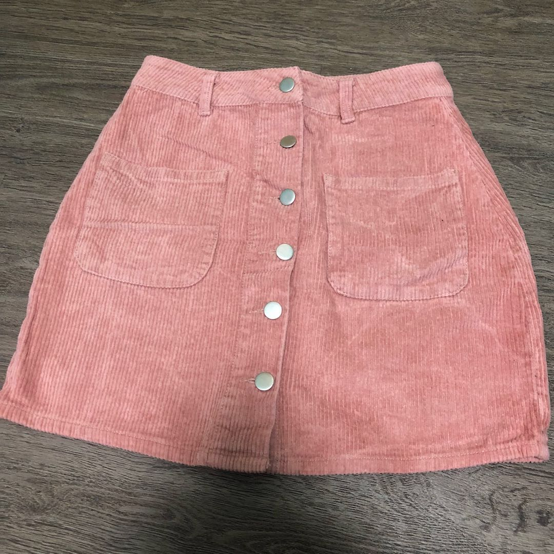 81bbb77215 pink corduroy skirt, Women's Fashion, Clothes, Dresses & Skirts on ...