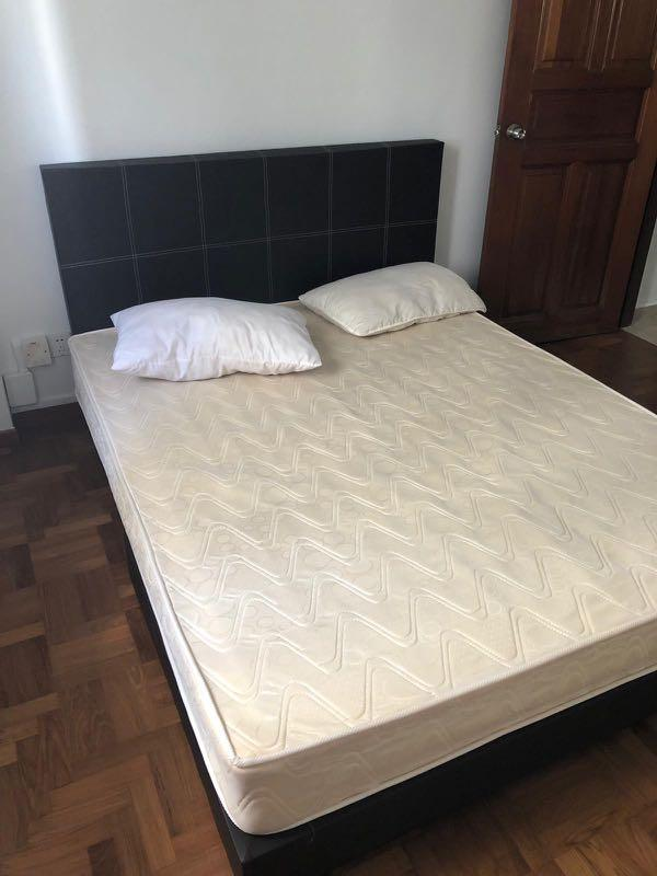 Quick sale! Barely used queen size bed and mattress