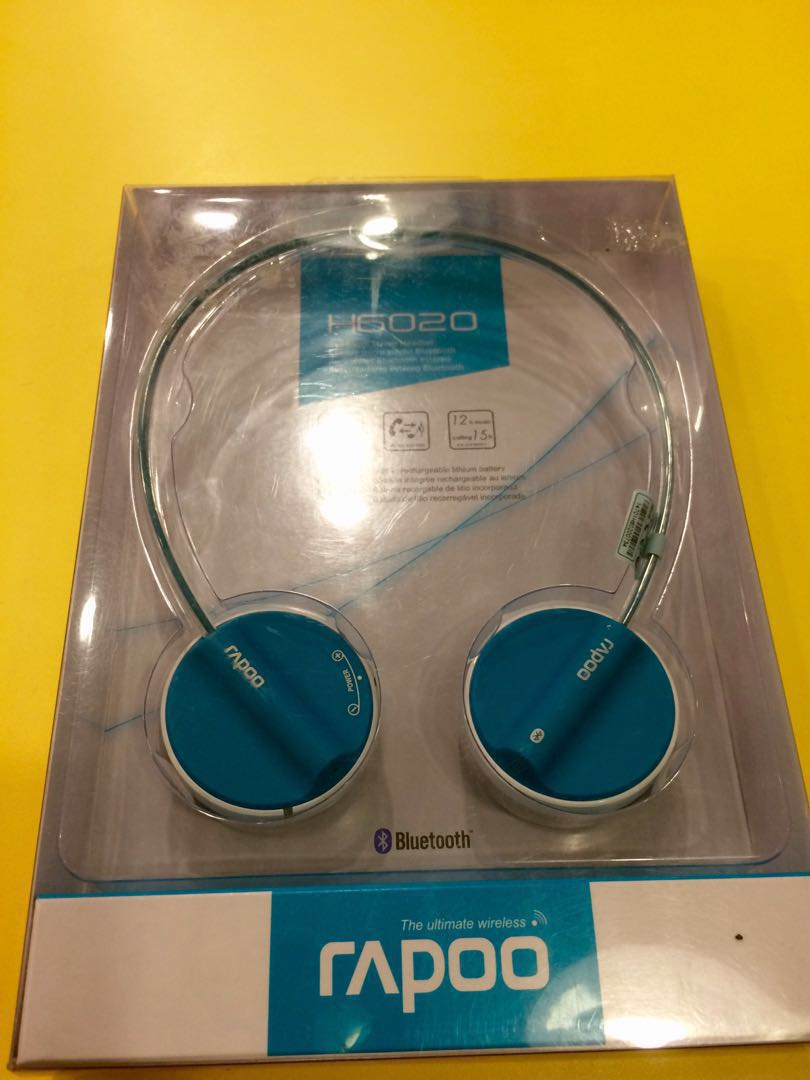 a33289ee116 Rapoo H6020 wireless stereo headset, Electronics, Audio on Carousell