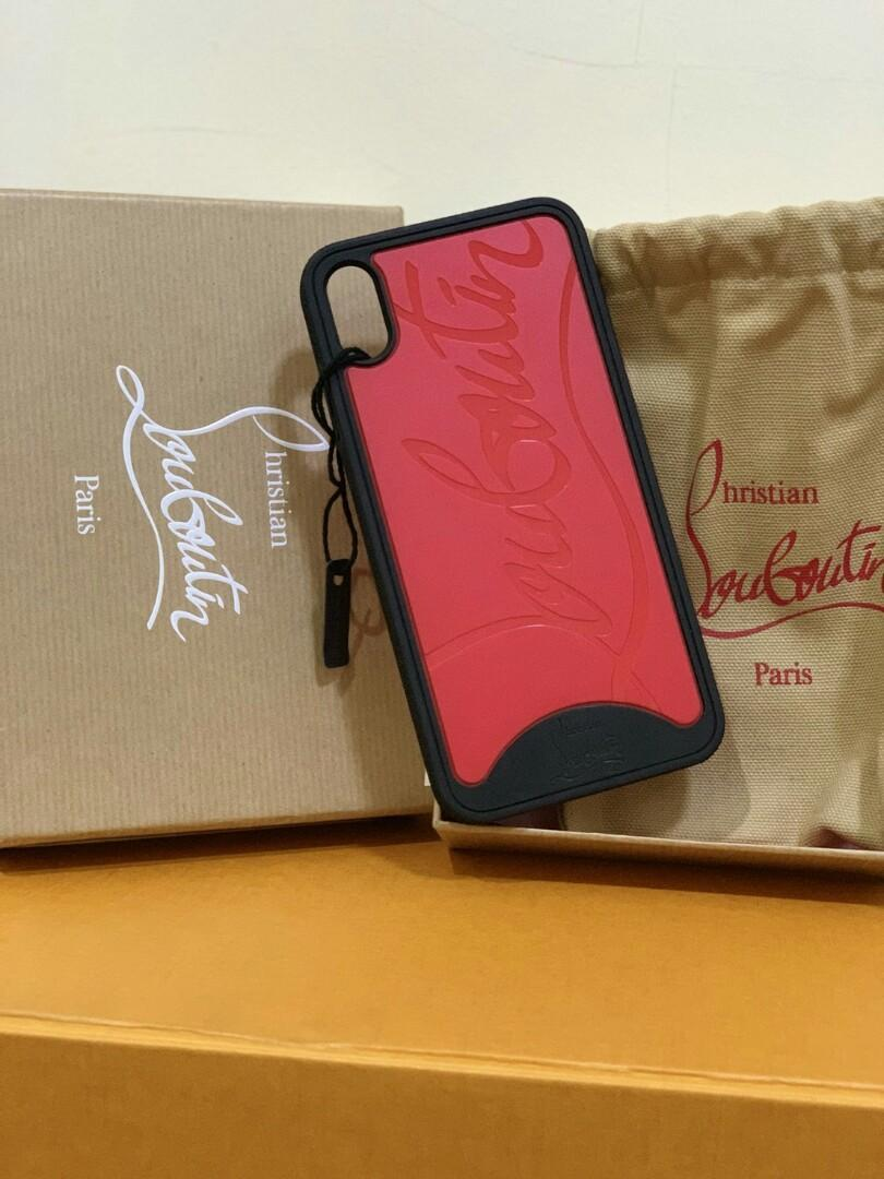 check out f161b 65b54 Ready Louboutin case iphone xs max, Luxury, Accessories on Carousell