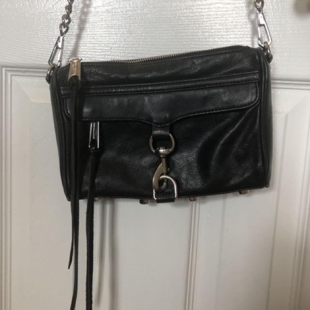 Rebecca Minkoff Mini MAC bag, black w/silver hardware