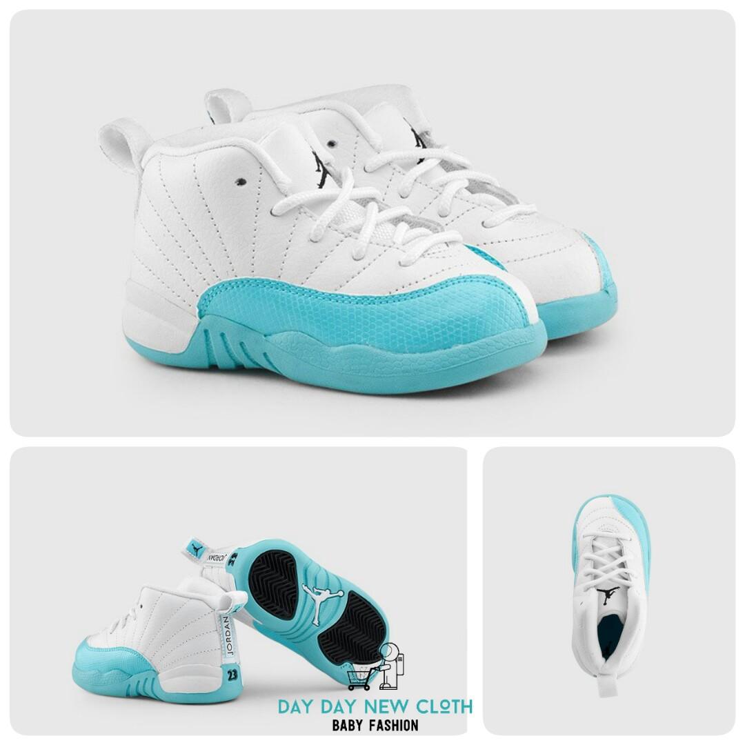 cheap for discount 4126e 81a7e Toddler Retro Air Jordan 12 'Light Aqua'