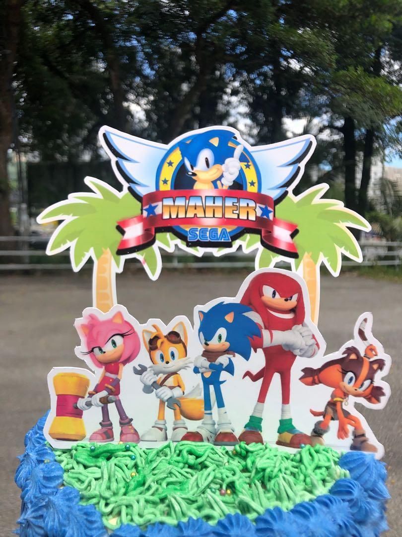 Admirable Sonic Birthday Cake Food Drinks Baked Goods On Carousell Personalised Birthday Cards Xaembasilily Jamesorg