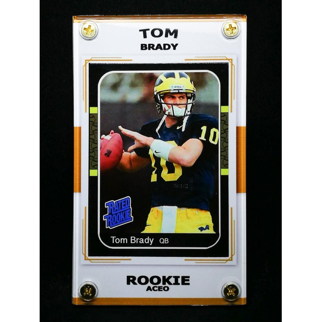 Tom Brady Aceo Rookie 6x Super Bowl Champion Card On Carousell