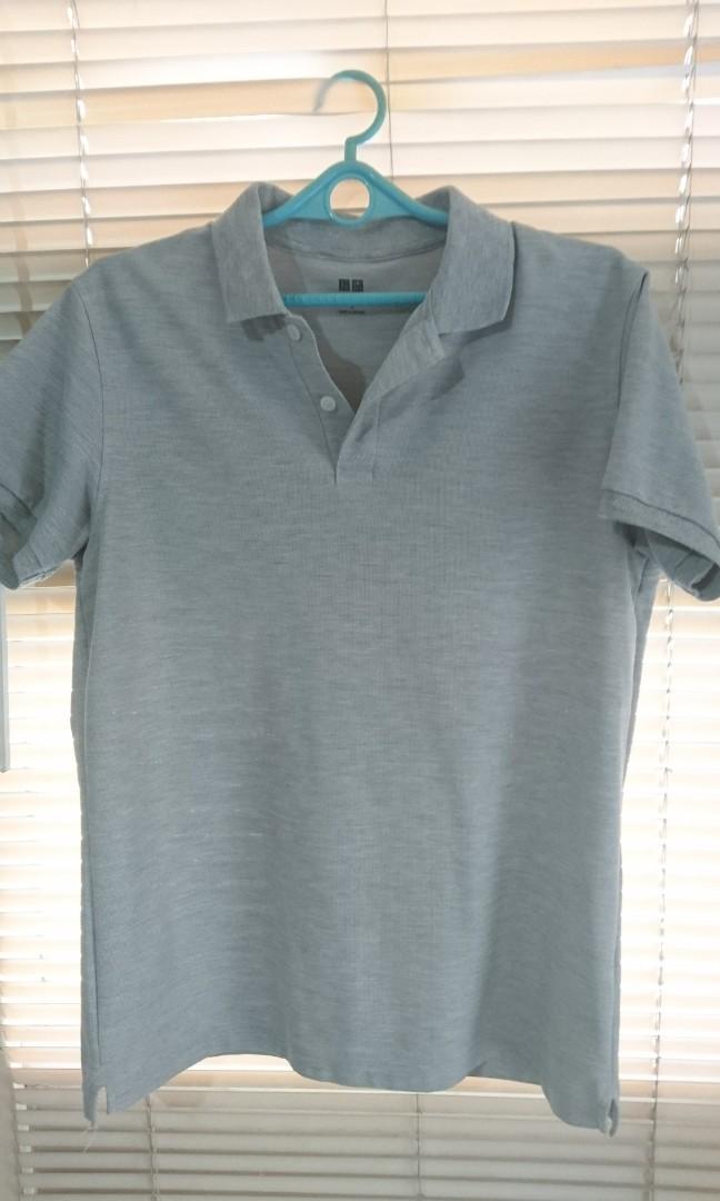 f849f9c05 Uniqlo Slim Fit Poloshirt (Gray