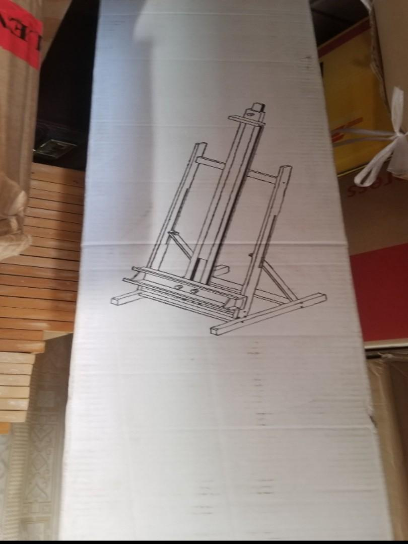 Wooden Studio painting easel