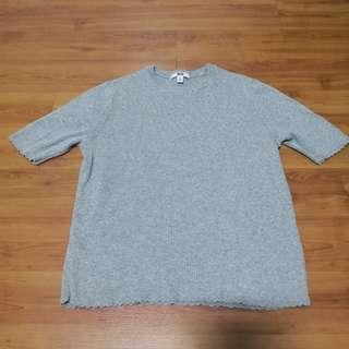 🚚 [Preloved] Uniqlo Grey Knitted Top