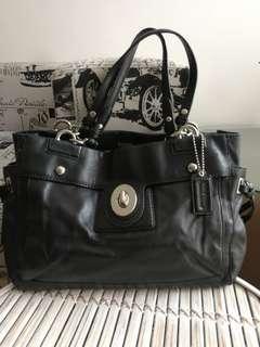 Coach Peyton 14522 Black leather