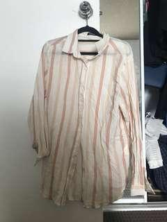 Oversized striped shirt